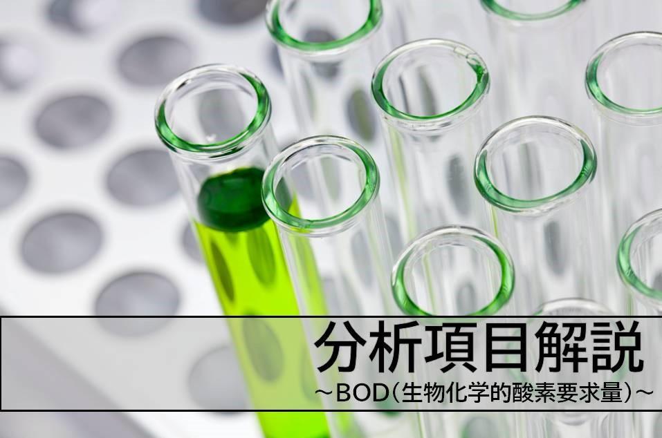 分析項目解説!】BOD(生物化学的酸素要求量)についてご説明 | 尾北環境 ...